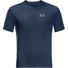 Jack Wolfskin Tech T-shirt Heren, dark indigo